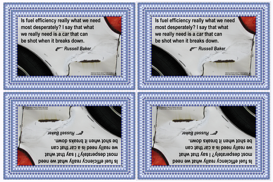 132 Russell Baker on Cars (wallet print)