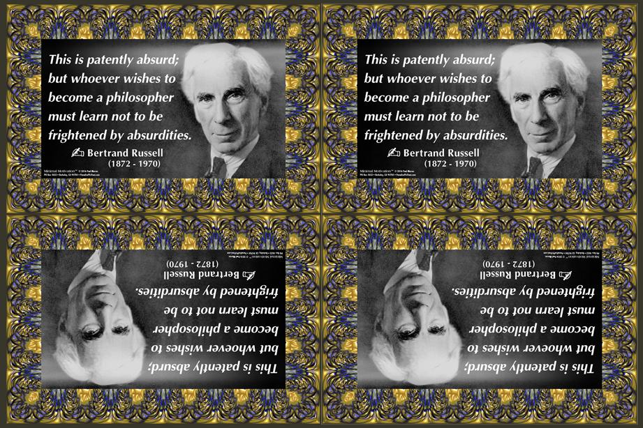 190 Bertrand Russell on Absurdity (wallet print)
