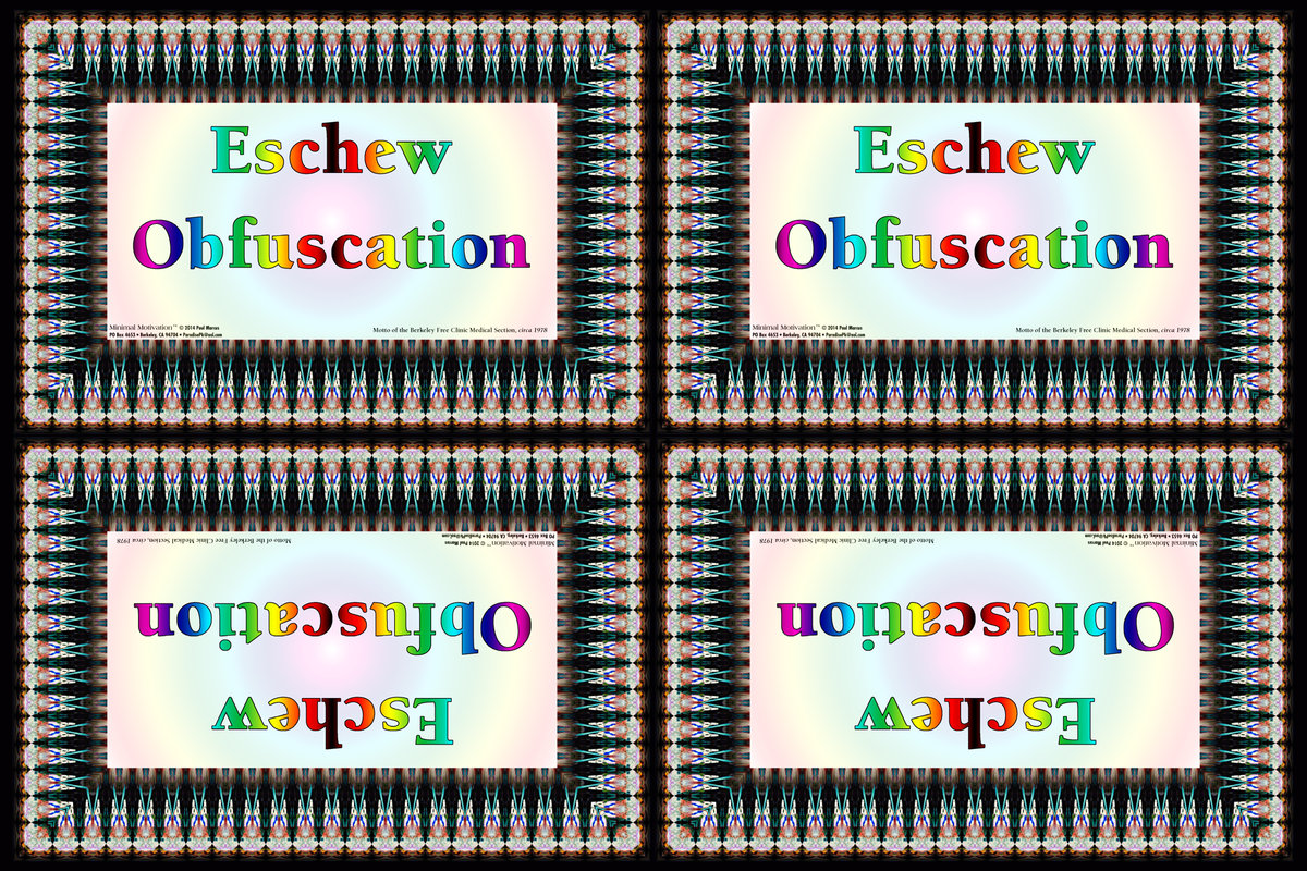 016 Eschew Obfuscation (wallet print)