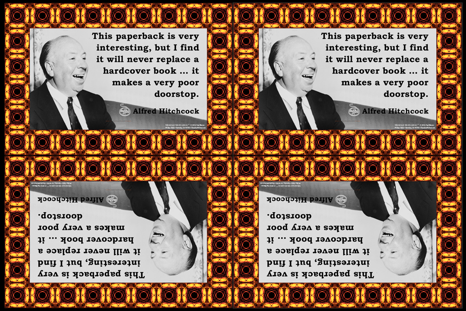 028 Alfred Hitchcock on Books (wallet print)
