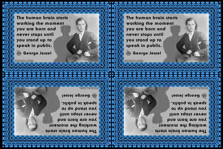030 George Jessel on Brainpower (wallet print)