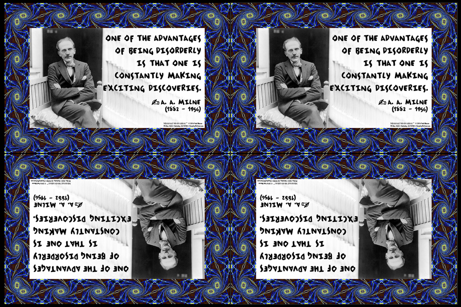 033 A.A. Milne on Discovery (wallet print)