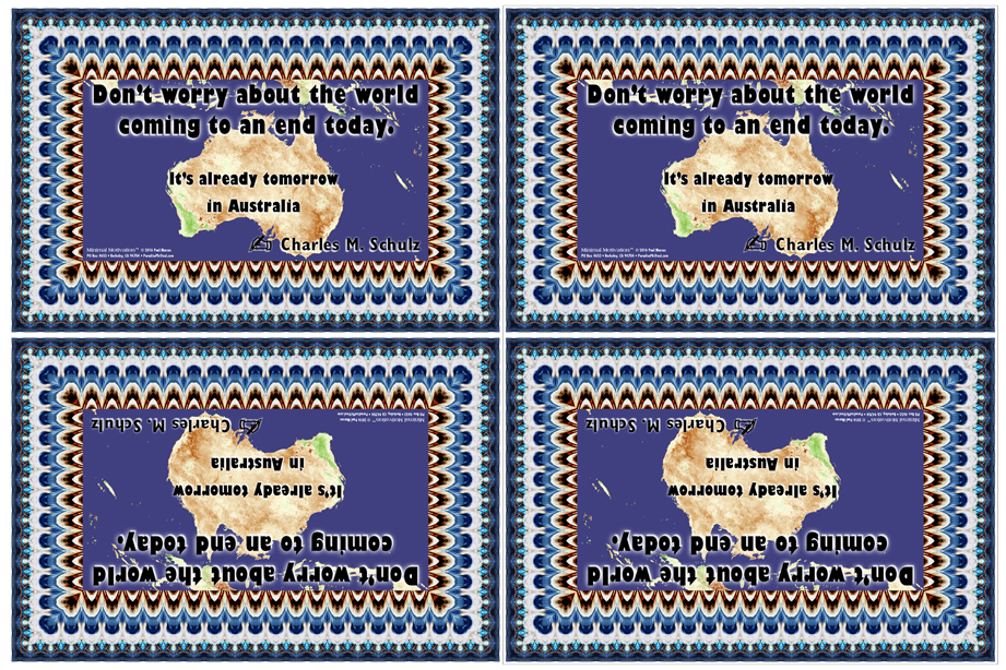 055 Charles M. Schulz on The End Of The World (wallet print)