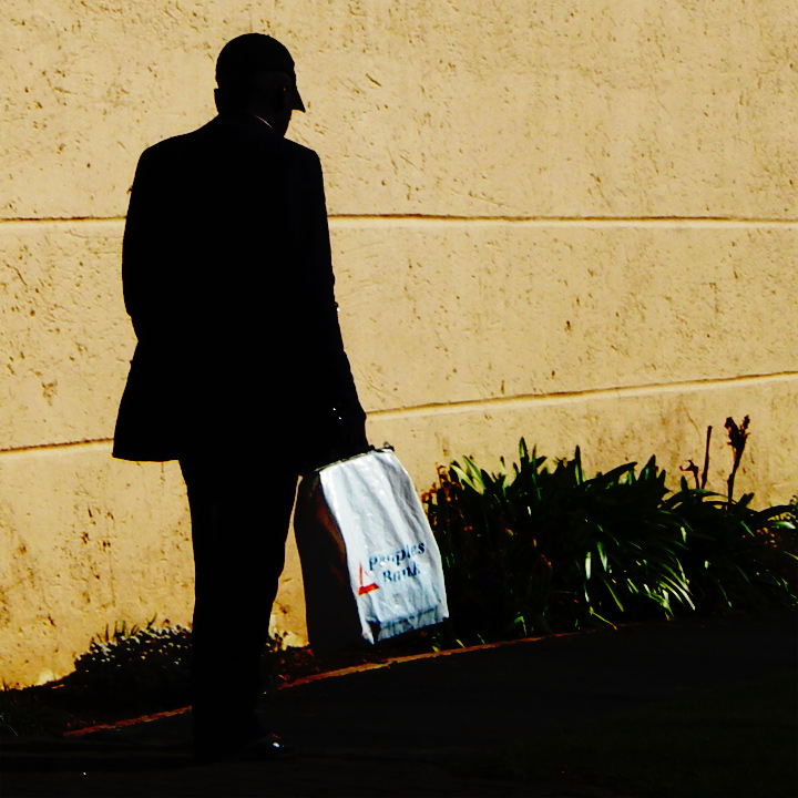 Man with shopping bag