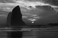 Cannon Beach, Oregon B&W