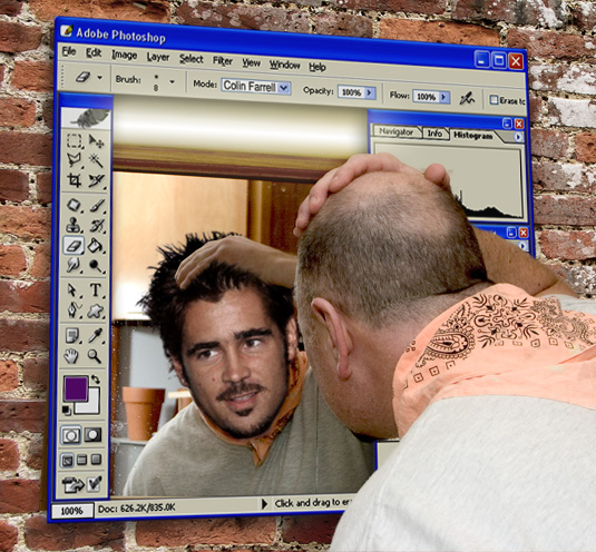Photoshop Mirror with Colin Farrell filter by Art Roflmao ...