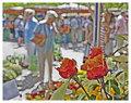 Roses at market