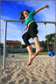 Jumping off Swing