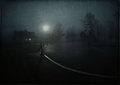 twilight, foggy night