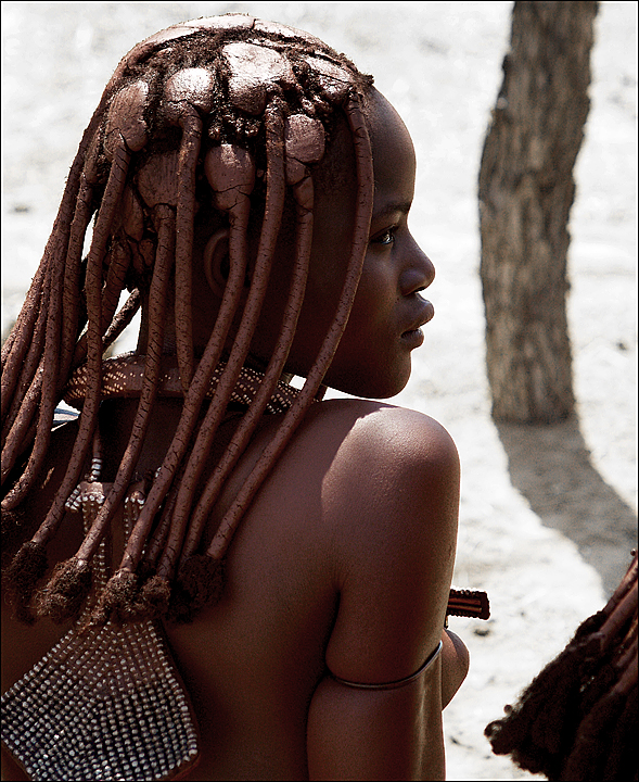 young girl of himba tribe in northern namibia  camera model  e 500 equipment maker  olympus date taken