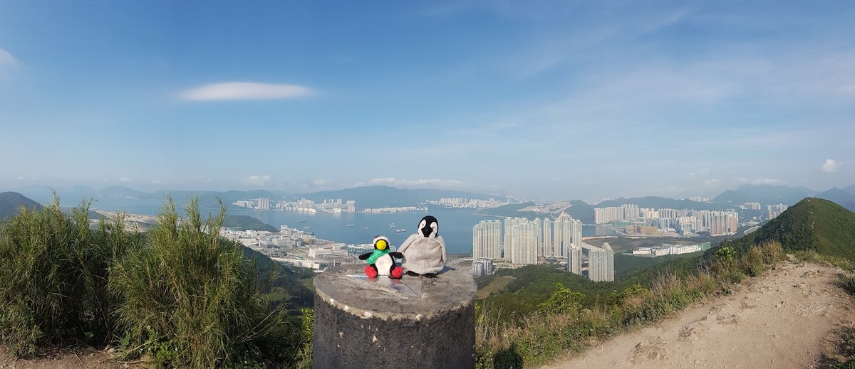 Beautiful hike. HK seen on the background