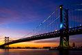 Benj. Franklin Bridge Sunset