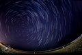 Circular star trail
