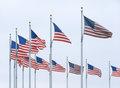 Flags at Washington Monument