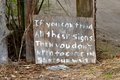 Redneck Welcome Sign