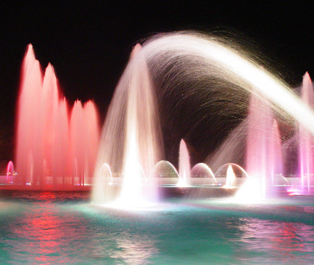 Fountains galore