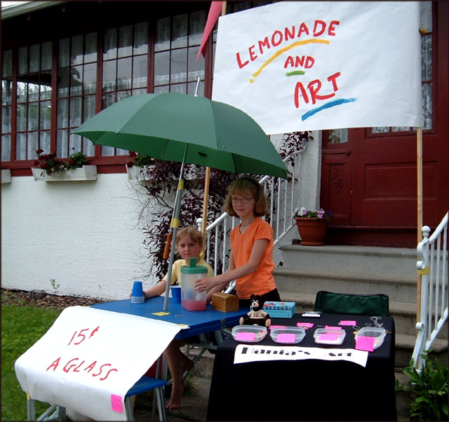 Lemonade and Art For Sale