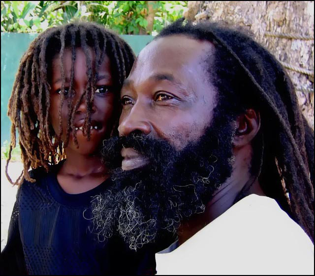 Rasta King Saba with son Prince O'Shane