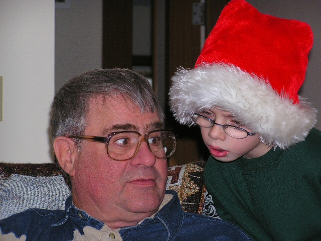 Grandpa and Grandson Christmas Day 04'