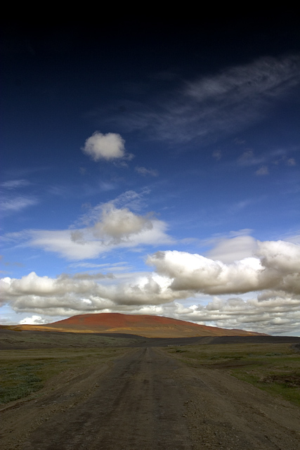 Road around Mývatn Wasteland