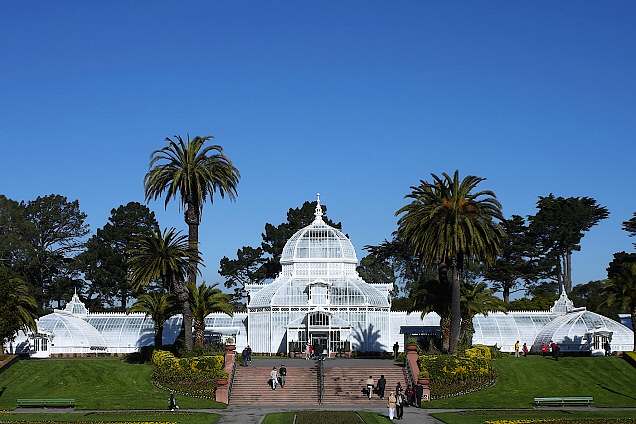 Architectural Symmetry, Conservatory at Golden Gate Park