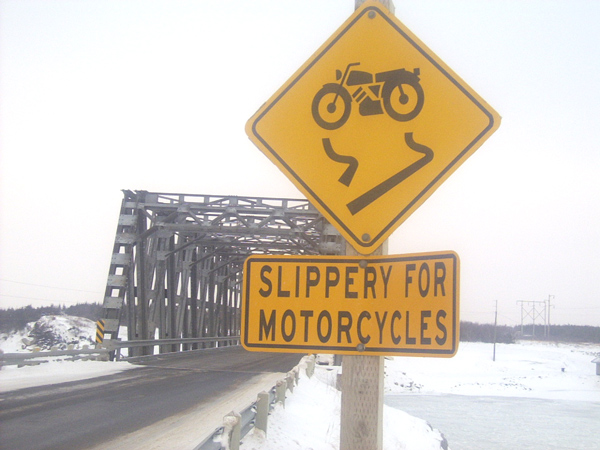 Slippery For Motercycles