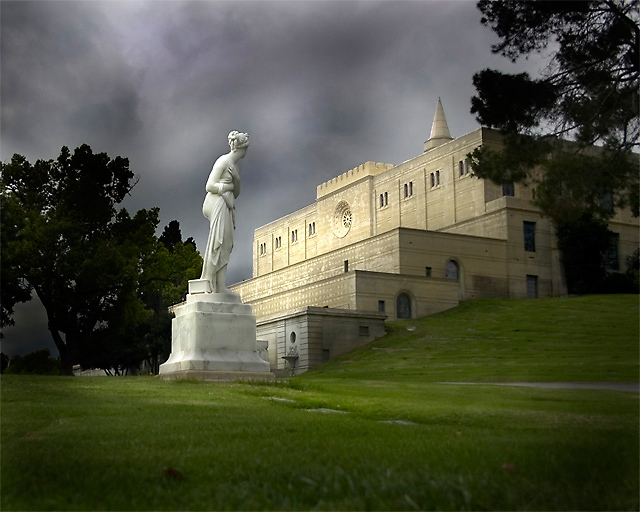 A View Of The Great Mausoleum At Forest Lawn