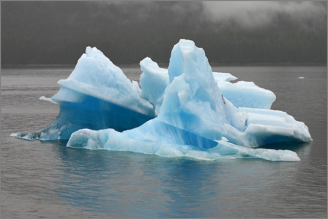 Iceberg, Tracy Arm, Alaska, Natural Color