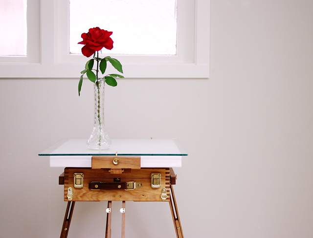 Rose on Easel Table, Late Afternoon