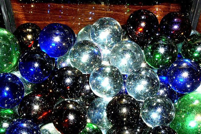 Marbles + Light = Magic
