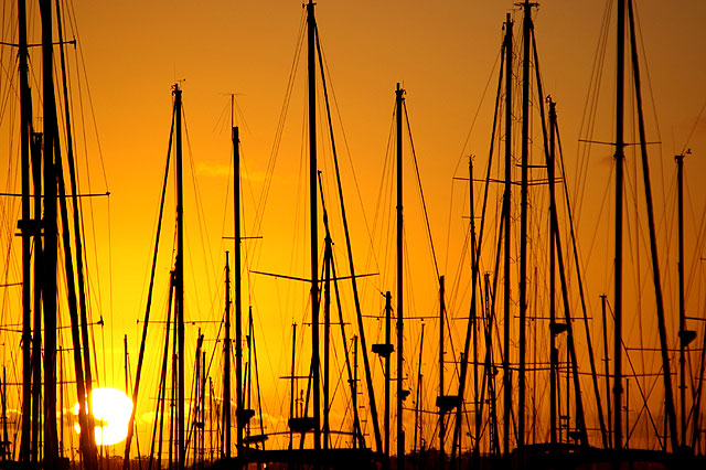 Sunrise at Manly Yacht Club, Australia.