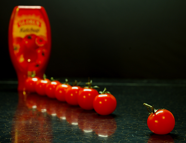Hey, small tomato at the end! KETCH UP!