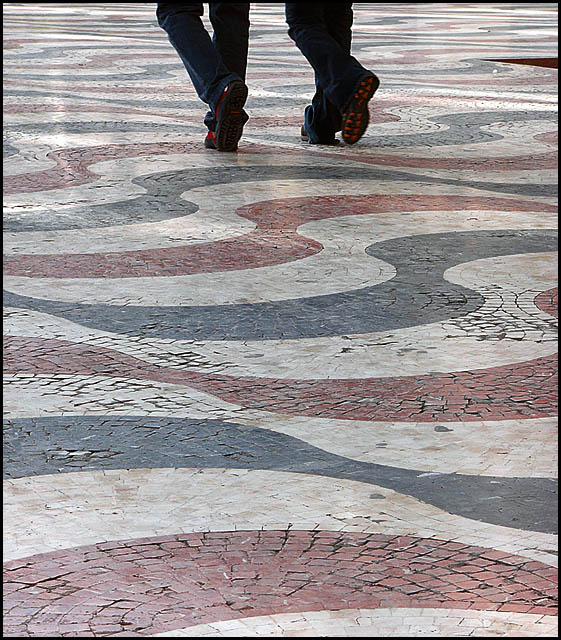 walking on a pattern