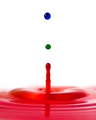 """Drop of RGB"" - tribute to Harold E. Edgerton, inventor of high speed photography."