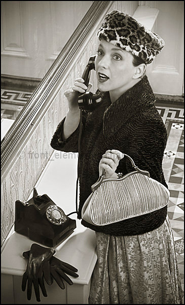 """Honey, Norman Parkinson is on the phone..."""