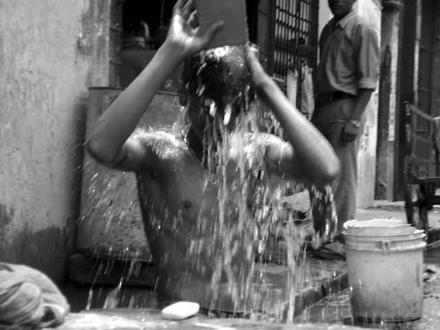 Summer Bath (unfortunately its already summer in some parts of  India)