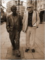My and Mr. Allen with shoes in Oviedo (Spain)
