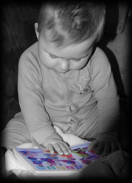 A picture is worth a thousand words! at 9 nine  months old ;0)