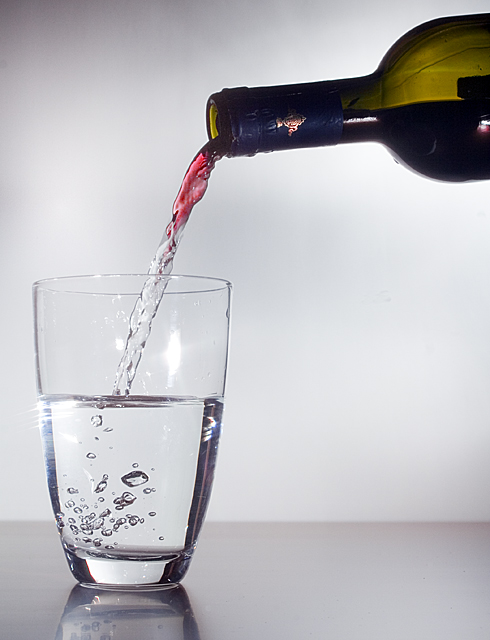 graphicfunk's wine back into water