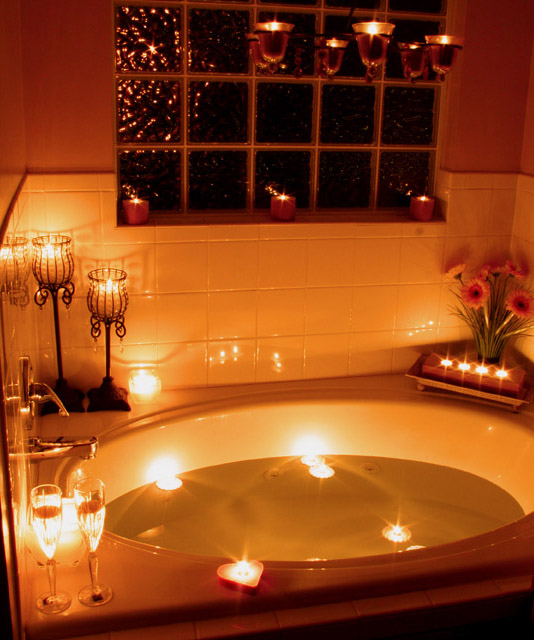 Romantic Bathroom Lighting Ideas: Candlelight Challenge : Bath Time Two By Youngnova