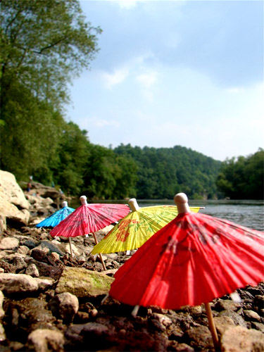 Parasols by the River
