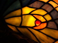 Lit Stained Glass in Gold