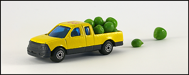 "Overloaded ""Pea-k Up"" Truck"