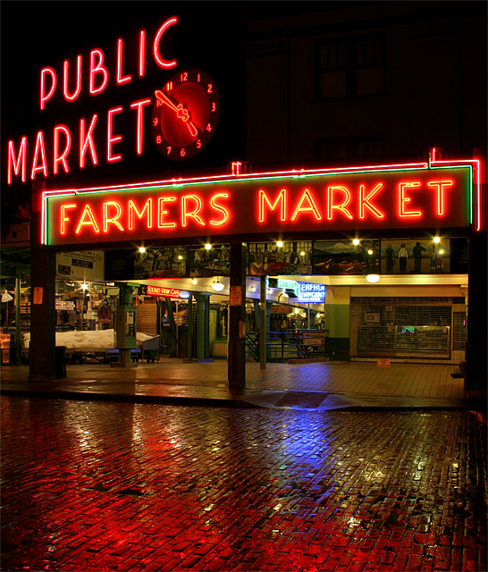 Pike's Market at Night