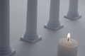Columns and Candle