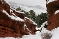 Red Canyon in the Snow