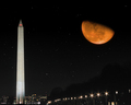 Harvest Moon Over Washington