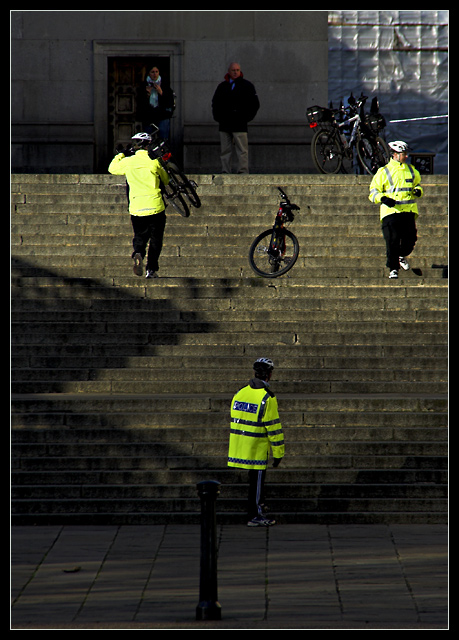 Metropolitan Police Up-Stairs Cycling Competition