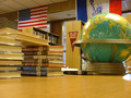 the globe and some books