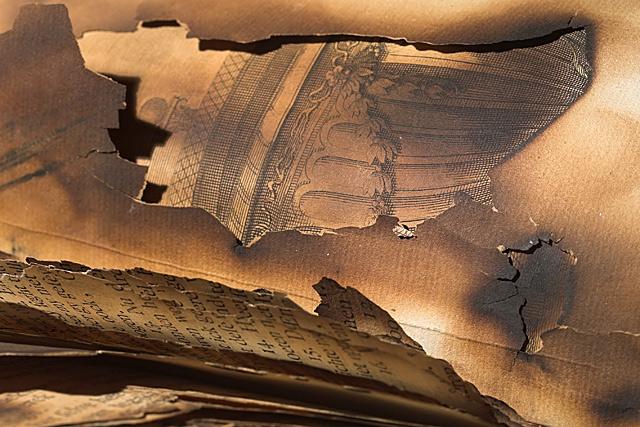 Burned bible